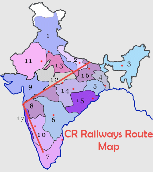 CR Railways Route Map