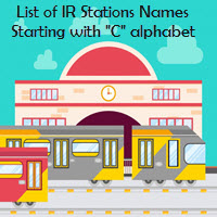 List of IR Stations Names Starting with C alphabet