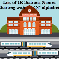 List of IR Stations Names Starting with N alphabet