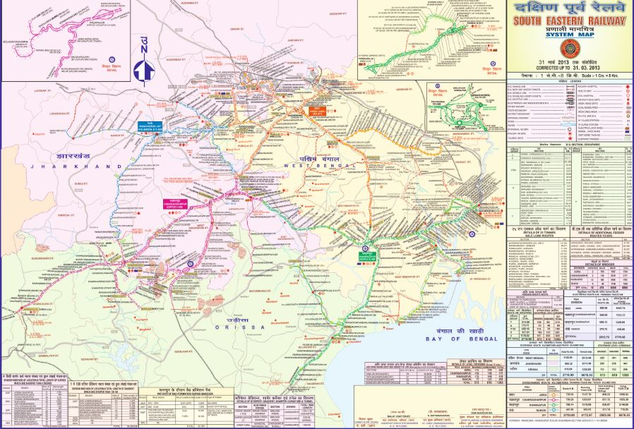 SER Railway Zone Map