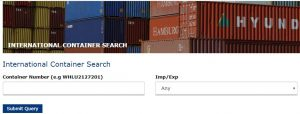 Container Search for CONCOR Tracking