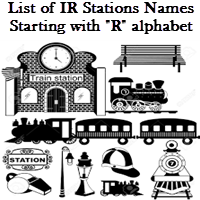 List of IR Stations Names Starting with R alphabet