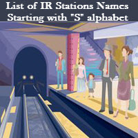 List of IR Stations Names Starting with S alphabet