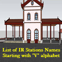 List of IR Stations Names Starting with V alphabet
