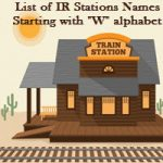 List of IR Stations Names Starting with W alphabet